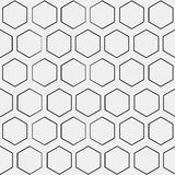 Abstract minimalistic black and white pattern hexagon Royalty Free Stock Photo
