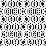 Abstract minimalistic black and white pattern hexagon Stock Photos