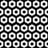 Abstract minimalistic black and white pattern hexagon Stock Photography