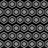 Abstract minimalistic black and white pattern hexagon Royalty Free Stock Photography