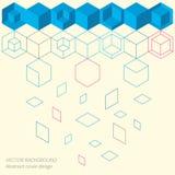 Abstract minimalistic flat background. Modern technology illustration Stock Image