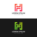 Abstract minimalistic H letter clean logo sign vector icon. Minimalistic H letter clean logo sign vector icon Royalty Free Stock Photography