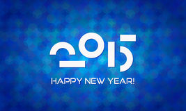 Abstract Minimalistic Happy New Year 2015 Banner Royalty Free Stock Image