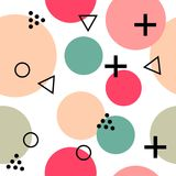 Abstract minimalistic naadloos patroon vector illustratie