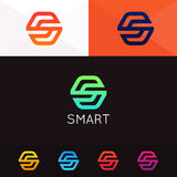 Abstract minimalistic S logo letter sign icon vector design. Minimalistic S logo letter sign icon vector design Royalty Free Stock Photography