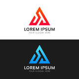 Abstract minimalistic triangle logo icon polygon sign vector des Royalty Free Stock Photos