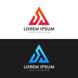 Abstract minimalistic triangle logo icon polygon sign vector des. Minimalistic triangle logo icon polygon sign vector design Royalty Free Stock Photos