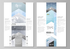 The abstract minimalistic vector illustration of the editable layout of two modern blog graphic pages mockup design vector illustration
