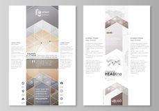 The abstract minimalistic vector illustration of the editable layout of two modern blog graphic pages mockup design Royalty Free Stock Images