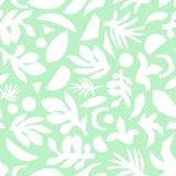 Abstract mint green and white floral background vector. Seamless surface pattern design vector illustration
