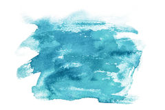 Abstract mint watercolor splash on white background Stock Photo