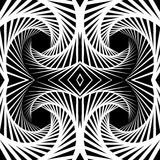 Abstract mirrored vortex background, pattern. Spirally monochrom. Abstract mirrored vortex background, pattern. Seamlessly repeatable pattern with spirally Stock Image