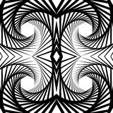 Abstract mirrored vortex background, pattern. Spirally monochrom. Abstract mirrored vortex background, pattern. Seamlessly repeatable pattern with spirally Royalty Free Stock Photos
