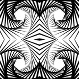 Abstract mirrored vortex background, pattern. Spirally monochrom. Abstract mirrored vortex background, pattern. Seamlessly repeatable pattern with spirally Stock Photos