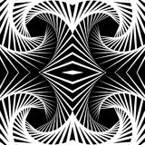 Abstract mirrored vortex background, pattern. Spirally monochrom. Abstract mirrored vortex background, pattern. Seamlessly repeatable pattern with spirally Stock Images