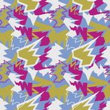 Abstract mix seamless pattern. Dynamic background. Aggressive te Stock Photos