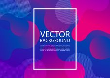 Abstract mixing of colors and lines. In a beautiful combination. Modern vector template for design of posters and much more stock illustration