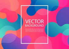 Abstract mixing of colors and lines. In a beautiful combination. Modern vector template for design of posters and much more royalty free illustration