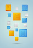 Abstract mobile background with geometric elements Stock Photos