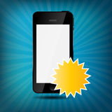 Abstract mobile phone vector illustration Royalty Free Stock Photo