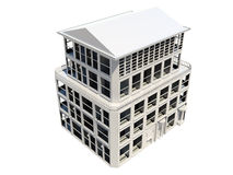 Abstract model of five storey building Royalty Free Stock Photo