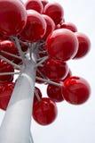 Abstract modern architecturaal elementenstuk in vorm rode bessen Royalty-vrije Stock Afbeeldingen