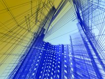 Abstract modern architecture Royalty Free Stock Photos