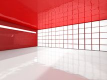 Abstract modern architecture background, empty open space interi. Or. 3D rendering Vector Illustration