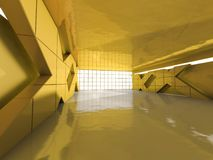 Abstract modern architecture background, empty open space interi. Or. 3D rendering Stock Photo