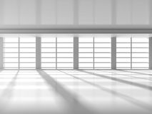 Abstract modern architecture background. Empty Room With Big Win Royalty Free Stock Photo