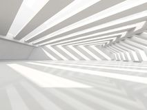 Abstract modern architecture background, empty white open space. Interior. 3D rendering Royalty Free Stock Photography