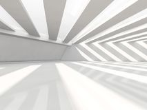 Abstract modern architecture background, empty white open space. Interior. 3D rendering Stock Image