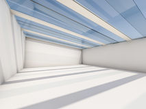 Abstract modern architecture background, empty white open space. Interior. 3D rendering Stock Photo