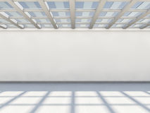 Abstract modern architecture background, empty white open space. Interior. 3D rendering Stock Photography