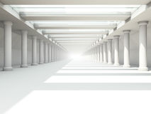 Abstract modern architecture background, empty white open space. Interior. 3D rendering Royalty Free Stock Images