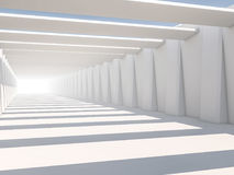Abstract modern architecture background, empty white open space. Interior. 3D rendering royalty free stock photos