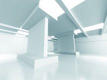 Abstract Modern Architecture. Empty Room Interior Background. 3d Render Illustration royalty free illustration