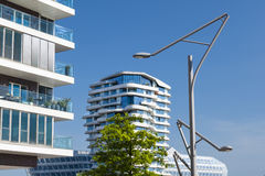 Abstract modern architecture in Hamburg Stock Photos