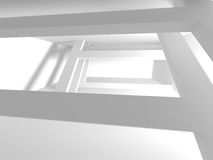 Abstract Modern Architecture Interior Background. 3d Render Illustration Royalty Free Stock Photo