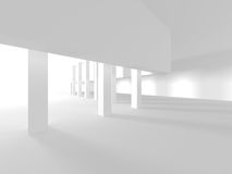 Abstract Modern Architecture Interior Background. 3d Render Illustration Royalty Free Stock Images