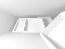 Abstract Modern Architecture Interior Background. 3d Render Illustration Stock Images