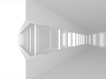 Abstract Modern Architecture Interior Background. 3d Render Illustration Royalty Free Stock Image