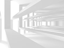 Abstract Modern Architecture Interior Background. 3d Render Illustration Stock Image