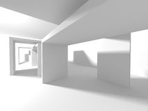 Abstract Modern Architecture Interior Background. 3d Render Illustration Stock Photo
