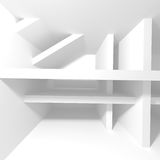 Abstract Modern Architecture Interior Background. 3d render illustration Stock Photography