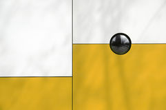 Abstract modern architecture. Line detail composition, white and yellow. Stock Image