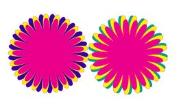 Colorful Flower Shape Design,Fire Work Design Royalty Free Stock Photography