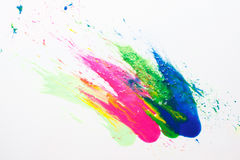 Abstract modern art. Festival holi color explosion. Abstractionism, creative modern painting, abstract art on white background. Bright colors, festival holi Royalty Free Stock Photos