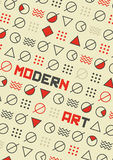 Abstract Modern Art Poster & geometric background. Mix of Geometric Shapes. Vector Illustration in Mosaic Style with copy space Stock Photos
