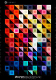 Abstract modern background. Colorful illustration made by squares and triangles Royalty Free Stock Images